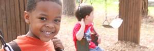 Preschooler swinging