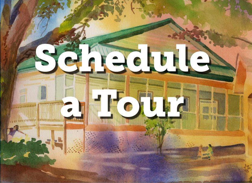 tour East house Watercolor